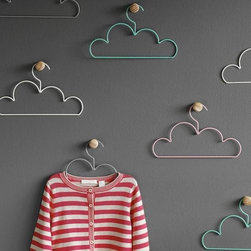 Cloud Coat Hangers, Large - These cloud hangers are so cute that you'll never toss clothes on the floor again