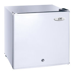 SPT - White 1.5-cu-ft Upright Freezer - Keep extra frozen food on hand with this functional upright deep freezer. The freezer is small enough to use in any room,and it features an adjustable thermostat to give you control over the temperature.