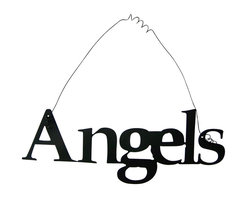 Inspirational Word ANGELS Wall Hanging Home Decor Metal - This listing is for one inspirational word, ANGELS