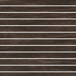 Cottage Collection Mountain Retreat 1x12 Mosaic - Cottage is a thru-color collection that replicates the look of natural wood enhanced by a slightly distressed texture.