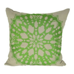 Design Accents Rangoli Pillow - 20L x 20W in. - Bright, colorful, and cool, the Design Accents Rangoli Pillow - 20L x 20W in. creates a stunning focal point. High-quality cotton construction and an embroidered traditional Indian decorative motif make this pillow a unique and stylish accent. Available in various colors, you can mix and match to get the perfect look.