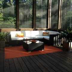 contemporary patio Orange