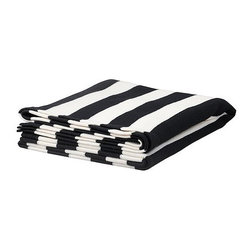 Eivor Throw, Black/White - I picked up a couple of these black and white striped throws for the family sofa. They're large in size and stylish.