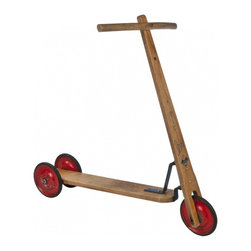 Wood Scooter - Vintage mid-century Vero ABC wood children's scooter by Stepke.