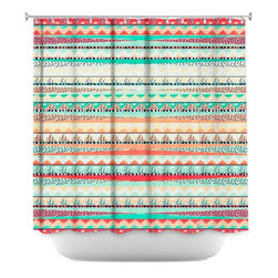 DiaNoche Designs - Shower Curtain Artistic - Summer Boho - DiaNoche Designs works with artists from around the world to bring unique, artistic products to decorate all aspects of your home.  Our designer Shower Curtains will be the talk of every guest to visit your bathroom!  Our Shower Curtains have Sewn reinforced holes for curtain rings, Shower Curtain Rings Not Included.  Dye Sublimation printing adheres the ink to the material for long life and durability. Machine Wash upon arrival for maximum softness. Made in USA.  Shower Curtain Rings Not Included.