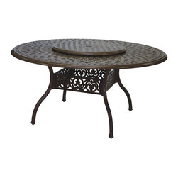 Darlee - Darlee Lazy Susan - 22 in. - 201080-39-22-AB - Shop for Serveware from Hayneedle.com! The Darlee Lazy Susan - 22 in. is the perfect solution to keep everyone at the table happy. Made in a lattice-style tabletop design it rotates easily and makes a statement of hospitality and style. The lazy Susan is crafted from weather-resilient cast-aluminum construction and powder-coated with an antique bronze and mocha finish.About DarleeSince 1993 Darlee has developed a wide variety of products to help you create your ideal outdoor-living environment. Working with high-quality materials Darlee achieves a large spectrum of styles that covers a range of interests as well as aesthetic tastes. From classic to contemporary from conversation sets to dining sets to fire pits Darlee has you covered for outdoor entertaining. Because the company knows good business is built on trust and integrity Darlee focuses on reliable quality construction and remains committed to providing customers with the best service possible.