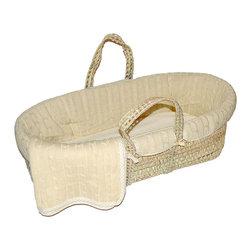 Sleeping Partners - Natural Cable Knit Moses Basket Set - Natural Cable Knit Moses Basket