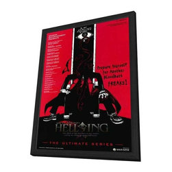 Hellsing Ultimate OVA Series (TV) 11 x 17 TV Poster - Style A - in Deluxe Wood F - Hellsing Ultimate OVA Series (TV) 11 x 17 TV Poster - Style A - in Deluxe Wood Frame.  Amazing movie poster, comes ready to hang, 11 x 17 inches poster size, and 13 x 19 inches in total size framed. Cast: Jeji Nakata