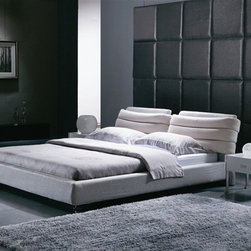 Groli Modern Bed Frame - Bring a stylish and unique influence to your bedroom furniture collection with this Groli Bed Frame.