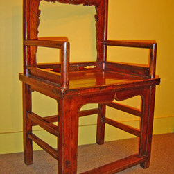 Asian chairs, Asian benches, Asian stools - Antique Low Back Asian Chair