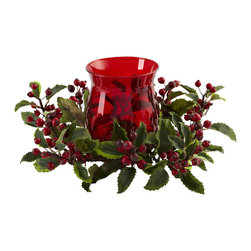 Nearly Natural - Holly Berry Candleabrum - Candelabrums have been a holiday decorating favorite for years. And this Holly Berry Candelabrum is the prefect (and classic) representation of the Christmas Holiday season. With a beautiful, elegant candelabrum centered amongst striking Holly and Berries, it practically begs to 'deck the halls'. Ideal for both home and office holiday decorating, this will be a favorite piece for years to come.