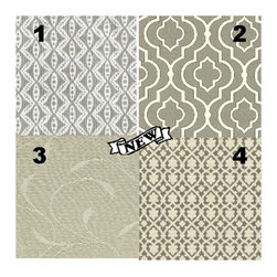 Custom Lampshade - Vanity - Gray Daze - Lampshade - Fabric Collection -