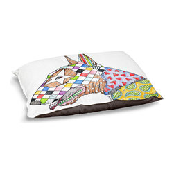 DiaNoche Designs - Dog Pet Bed Fleece - Bull Terrier Dog - The comfort of your pet is of the utmost importance. But shouldn't their furniture match yours? DiaNoche Designs gives your pet some clout with our stable of international artists designs on their new bed.