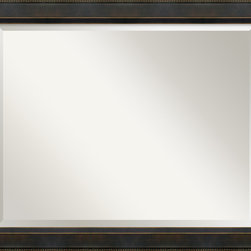 Amanti Art - Hemingway Wall Mirror - Hang this classic mirror anywhere in your home. Create dramatic dimension by positioning over your mantel or use it to make your bedroom look more spacious. Its clean lines and gold-detailed traditional frame will complement your decor, no matter your style.
