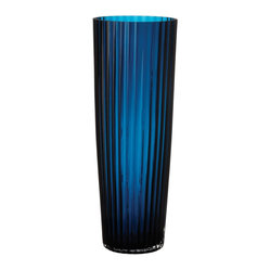 Baltic Blue Fluted Vase, Small