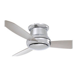 """Minka Aire - 44"""" Concept II 3 Blade Ceiling Fan - As the name implies, 'a taste of things to come,' simple in style, yet ingenious by design. The Concept II requires 75% less time and labor to assemble than conventional ceiling fans. Providing a sleek and modern silhouette for any interior application, the Concept II is a sure fit for. Features: -Ceiling fan.-14 Degree blade pitch.-Three concave blades.-Flush mount fan ideal for low ceiling environments.-Full function hand held remote control system.-Motor size: 153 mm x 15 mm.-RPM high is 184, low is 86.-Cap for non-light use (included).-Concept collection.-NOTE: Ceiling Fans are not universal. Warranty is void if products from two different manufacturers are combined. Energy Guide Information:.-Collection: Concept.-Distressed: No.Specifications: -Integrated light uses one 100W medium base bulb (not included).-Product Air Flow: 4600 Cubic Feet Per Minute.-Electrical Usage: 40 Watts.-Air Flow Efficiency: 115 Cubic Feet Per Minute Per Watt.Dimensions: -8' Lead wire.-Hanging weight: 23 lbs.-Overall dimensions: 10.5' H x 44' W.-Overall Product Weight: 30.8 lbs..Warranty: -Limited lifetime warranty."""