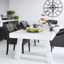 Dining table black and white -