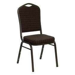 Flash Furniture - Hercules Series Crown Back Stacking Banquet Chair with Brown-Patterned Fabric - Running out of places for people to sit is the pits. Never let it happen to you by stocking up on some of these chairs. They stack so they don't take up too much space when not in use, they're extremely durable and comfortable and they look better than the average banquet chair. Whatever the occasion, you'll have one less thing to worry about.