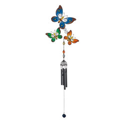 GSC - Wind Chime with Black Coated Gems Butterfly Hanging Garden Decoration - This gorgeous Wind Chime with Black Coated Gems Butterfly Hanging Garden Decoration has the finest details and highest quality you will find anywhere! Wind Chime with Black Coated Gems Butterfly Hanging Garden Decoration is truly remarkable.