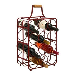Benzara - Table Top Wine Rack Portable - Table top wine rack portable. This table top wine rack is built to hold 12 bottles of wine simultaneously, the perfect thing to keep in the kitchen or dining room.