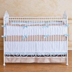 Casablanca Iron Crib in Distressed White by Bratt Decor - Casablanca Crib in Distressed White by Bratt Decor