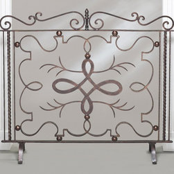 "Dessau Home - Firescreen in Bronze - Verdi highlights. Made from iron. No mesh. Made in India. 40 in. W x 36 in. HValue has always been an essential ingredient at Dessau Home. ""Essentials"" represents a collection of well-appointed yet affordable home furnishings with a unique traditional styling that appeals to most transitional and contemporary home decorating needs."