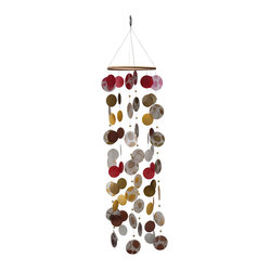 Red & Gold Capiz Seashell Wind Chime