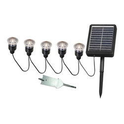 Kenroy Home - Kenroy 60503 Solar Light String - 5 Light - Solar Spotlights are ideal for illuminating steps, shrubs, flags, address markers, fountains, statuary and other landscape elements outside of your home or business.