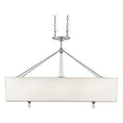 Quoizel - Quoizel DX348C Deluxe Modern/Contemporary Kitchen Island/Billiard Light - A swank, soft modern look paying homage to the days when Frank, Dean and Sammy were serving martinis and cosmopolitans in their sleek Palm Springs homes. Contains genuine lead crystal.