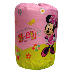 Jay Franco and Sons - Minnie Mouse Sleeping Bag Springtime Sweetie Slumber Set - Features: