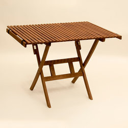Byer of Maine - Pangean Roll Top Travel Table - When adventure leads outdoors, ensure a comfy spot to eat with this charming table that folds away when not needed for easy storage.   42'' W x 28'' H x 29'' D Keruing wood / polyester Assembly required Imported