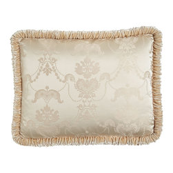 Dian Austin Couture Home - King Damask Sham with Shirred Velvet Welt - CREAM (20X36) - Dian Austin Couture HomeKing Damask Sham with Shirred Velvet WeltDesigner About Dian Austin Couture Home:Taking inspiration from fashion's most famous houses of haute couture the Dian Austin Couture Home collection features luxurious bed linens and window treatments with a high level of attention to detail. Acclaimed home designer Dian Austin introduced the collection in 2006 and seeks out extraordinary textiles from around the world crafting each piece with local California artisans.
