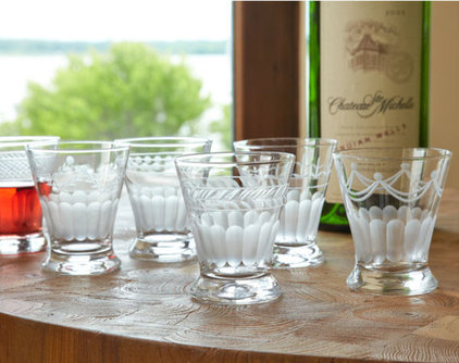 traditional glassware by Wisteria