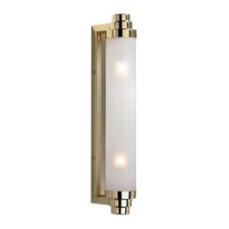 "Decor Walther - Decor Walther Vienna 40 Wall Sconce - The Vienna 40 wall sconce has been designed and made by Decor Walther.  The wall sconce Vienna 40 by Decor Walther have the simple basic shape  or a cylinder. These lamps are composed of a metal wall fixture in  either chrome or gold and a tubular satined glass diffuser. The Art Deco  inspired design is both elegant and modern. The lamps creates a  diffuse, even general lighting.  Product Details:  The Vienna 40 wall sconce has been designed and made by Decor Walther. The wall sconce Vienna 40 by Decor Walther have the simple basic shape or a cylinder. These lamps are composed of a metal wall fixture in either chrome or gold and a tubular satined glass diffuser. The Art Deco inspired design is both elegant and modern. The lamps creates a diffuse, even general lighting. Details:                                     Manufacturer:                                      Decor Walther                                                                  Designer:                                     In House Design                                                                  Made in:                                     Germany                                                                  Dimensions:                                      Diameter: 2.24"" (5.7 cm) X Depth: 3.94"" (10 cm) X Height: 15.75"" (40 cm)                                                                  Light bulb:                                      2 x E14 Max 60W                                                                   Material:                                      Metal"