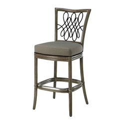 Mcguire Furniture Barbara Barry Script Counter Stool