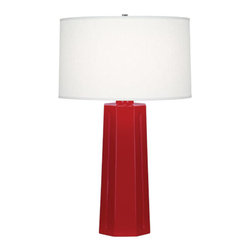 Robert Abbey - Robert Abbey Isis Table Lamp RR960 - Ruby Red Glazed Ceramic