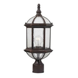 Design Outdoor Lighting. Traditional Wall-Mount 19 in. Outdoor Old Bronze Post L