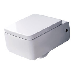 WS Bath Collections - Bathroom Wall Hung WC - Includes mounting hardware. Designer high end premium quality. Warranty: One year. Made from ceramic. White color. Made in Italy. 14.2 in. W x 19.7 in. D x 7.9 in. H (35 lbs.). Spec SheetKerasan by WS Bath Collections, designers high-end ceramic washbasins and sanitary ware with the greatest imaginable versatility in application. Models that adhere to the more current trends of design, harmony and elegance.