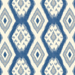 "Ballard Designs - Tybee Blue Fabric by the Yard - Content: 42% Cotton, 38% Polyester, 20% Rayon. Repeat: Non-railroaded fabric, 9 1/2"" repeat. Care: Dry Clean. Width: 56"" wide. Ivory and blue Ikat diamond medallion printed on soft cotton blend.  .  .  .  . Because fabrics are available in whole-yard increments only, please round your yardage up to the next whole number if your project calls for fractions of a yard. To order fabric for Ballard Customer's-Own-Material (COM) items, please refer to the order instructions provided for each product.Ballard offers free fabric swatches: $5.95 Shipping and Processing, ten swatch maximum. Sorry, cut fabric is non-returnable.Because fabrics are available in whole-yard increments only, please round your yardage up to the next whole number if your project calls for fractions of a yard. To order fabric for Ballard Customer's-Own-Material (COM) items, please refer to the order instructions provided for each product.Ballard offers free fabric swatches: $5.95 Shipping and Processing, ten swatch maximum. Sorry, cut fabric is non-returnable."