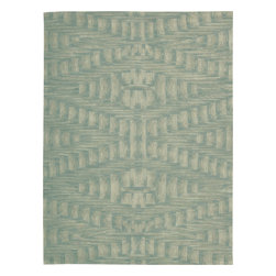 "Nourison - Nourison Moda MOD02 (Breeze) 7'6"" x 9'6"" Rug - Hand tufted area rugs with ultra modern designs in rich color geometrics and contemporary abstracts. Extra dense premium quality wool pile with light catching luminescent viscose yarns for texture and a bold focal point in any setting."