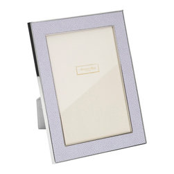 Addison Ross - Addison Ross Shagreen Lilac Picture Frame, 5x7 - Lilac with a gloss anti-tarnish. Silver plated zinc alloy. Luxury gift box. Luxury grey with a velvet back.