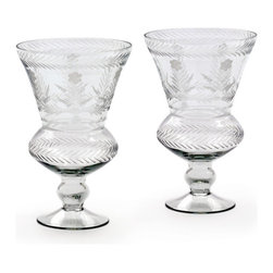Go Home - Glass Amsterdam Hurricane - Amsterdam Hurricane is nicely crafted with glass and has hand etched finish.Sure it will add charm to your home decor use as candle holder.
