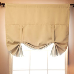 "Tie-Up Shade Solid Insulated Thermal Blackout Window Shade 42""W x 63""L-BEIGE - B - Keep your home under wraps with these thermal, insulated blackout tie up shade."