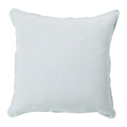 "Surya - Square Linen Pillow SL-001 - 22"" x 22"" - Add a burst of casual color sure to impress throughout your home with this immaculate pillow! Featuring charming blue coloring against a solid canvas, this piece radiates a cool and comfortable look that will easily translate from space to space. This pillow contains a zipper closure and provides a reliable and affordable solution to updating your home's decor."