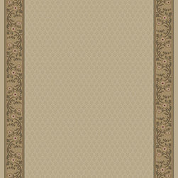 """Concord Global - Concord Global Jewel Harmony Ivory 6'7"""" x 9'6"""" Rug (4022) - Jewel collection is machine-made in Turkey using 100% heat-set polypropelene. These traditional to contemporary rugs will make a colorful addition to any area."""