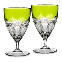 Waterford - Waterford Mixology All Purpose Glass (Set Of 2), Neon Green - The Waterford Mixology Neon Green All Purpose Glass is fresh and modern and will elevate the style of your next gathering.