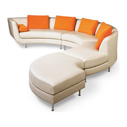 Our Academy Awards of Furniture: The Oscar Goes To? - It was a hard decision but the Menlo Park Sectional gets the Oscar. This modern set is by American Leather. Using playful curves to lure admirers in, this couch would like to thank Rick Lee, its designer who made this all possible.