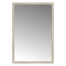 """Posters 2 Prints, LLC - 42"""" x 62"""" Libretto Antique Silver Custom Framed Mirror - 42"""" x 62"""" Custom Framed Mirror made by Posters 2 Prints. Standard glass with unrivaled selection of crafted mirror frames.  Protected with category II safety backing to keep glass fragments together should the mirror be accidentally broken.  Safe arrival guaranteed.  Made in the United States of America"""