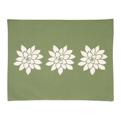 Bloom Eco Placemats, Olive/Cream, Set of 4
