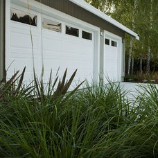 Modern Garage And Shed by Shades Of Green Landscape Architecture